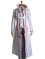 cheap -Inspired by Sword Art Online Kirito Anime Cosplay Costumes Cosplay Suits Patchwork Long Sleeves Coat Pants Gloves Belt Cloak Strap For