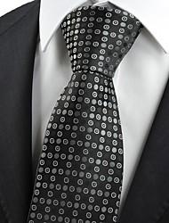 Krawatte(Schwarz / Weiß,Polyester)Punkte