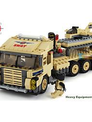 Недорогие -Тяжелый грузовик мальчика хобби масштабные модели строительных блоков пластиковый мультфильм автомобиль для мальчиков сборки кирпича