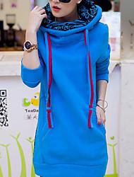 Hoodies Aux femmes Manches Longues Décontracté Coton Epais