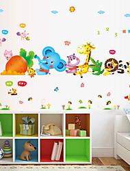 baratos -Paisagem Animais Romance Moda Formas Transporte Feriado Desenho Animado Fantasia Adesivos de Parede Etiquetas de parede de animal