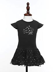 Vestito Girl Estate Cotone Nero Con stampe