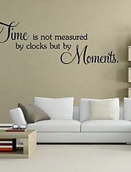 cheap -Time Is Not Measured By Clocks But By Moments Wall Decals Vinyl Stickers Home Decor Living Room Decoration