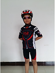 cheap -GETMOVING Cycling Jersey with Shorts Kid's Unisex Short Sleeves Bike Sleeves Jersey Shorts Clothing Suits Anatomic Design Breathable Back