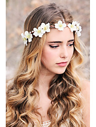 cheap -Bridal flower wreath woodland halo wedding flower crown bridal head piece rustic hair band flower headband