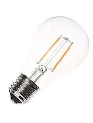 1pc 2w e26 / e27 levou lâmpadas de filamento a60 (a19) 180lm branco quente branco frio ac220-240v decorativo