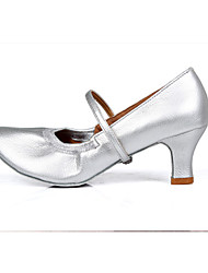 cheap -Customizable Women's Dance Shoes for Latin/Salsa in Brown/Silver/Gold