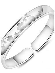 abordables -Bracelet Manchettes Bracelets Plaqué argent Mariage Bijoux Cadeau Argent,1pc