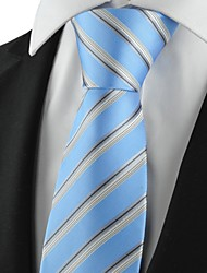 New Striped Grey Blue Mens Tie Suits Necktie Party Wedding Holiday Gift KT1007