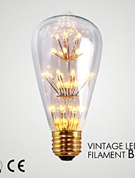 cheap -1 pcs GMY E26 1.6W 140-180 lm Warm White LED ST64 Star Vintage Decorative Decoration Light AC120V
