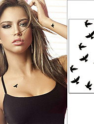 cheap -10cm Wrist Flash Tattoo Fake Tatto Birds Design Waterproof Temporary Tattoo Sticker For Body Art Women Flesh Tatoos