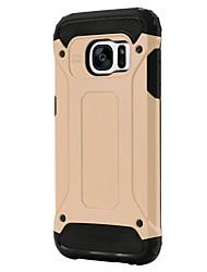 economico -Per Samsung Galaxy S7 Edge Resistente agli urti Custodia Custodia posteriore Custodia Armaturato PC SamsungS7 Active / S7 plus / S7 edge