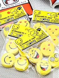 Недорогие -5шт улыбающееся лицо резиновое творческое выражение резиновый милый мультфильм резиновый (стиль случайный)