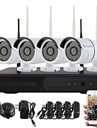 economico -yanse® plug and play NVR wireless kit p2p 960p HD sistema CCTV di WIFI outdoor / indoor ir notte di sicurezza visione ip camera