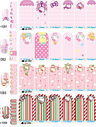 cheap -1PC Cute Cat In The Second Quarter All Posted 14 To Stick Nails Stickers