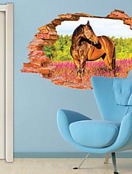 Animali / Botanical / 3D Adesivi murali Adesivi 3D da parete,PVC 60*90CM