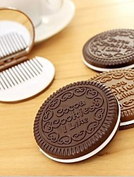 NIP Chocolate Cookie Mirror Compact Comb Cute Lady Accessory Fun Creative Design Random Color