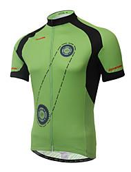 baratos -XINTOWN Homens Manga Curta Camisa para Ciclismo - Branco Moto Camisa/Roupas Para Esporte, Secagem Rápida, Resistente Raios Ultravioleta,