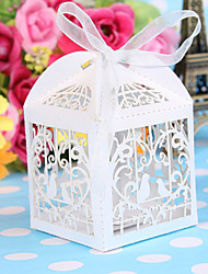 cheap -50pcs/lot Laser Cut Bird Wedding Favors Candy Boxes Sweets Box Baby Shower Gifts Decorations Supplies