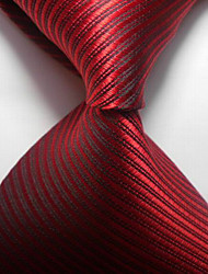 Polyester Necktie,Party/Evening Striped Formal Style Office/Business
