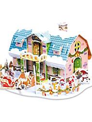 Недорогие -подарок рождества умный дом Сказочный коттедж 3d головоломки (38pcs)