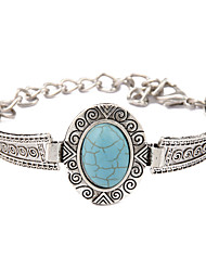 cheap -New Fashion Bohemia Turquoise Oval Retro Bracelet