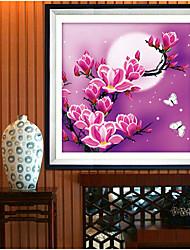 nuova 5d fiori di magnolia decorazione della casa pittura diy kit di ricamo diamante rotondo pittura adesivi punto croce di diamanti