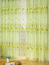 One Panel Curtain Country Living Room Polyester Material Sheer Curtains Shades Home Decoration For Window