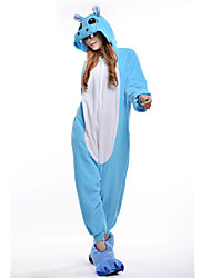Kigurumi Pajamas New Cosplay® Hippo Leotard/Onesie Festival/Holiday Animal Sleepwear Halloween Pink Blue Patchwork Polar Fleece Kigurumi