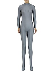 preiswerte -Zentai Anzüge Ninja Zentai Kostüme Cosplay Kostüme Grau Solide Gymnastikanzug / Einteiler Zentai Kostüme Elasthan Lycra Herrn Damen