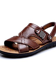 Men's Shoes Amir 2017 New Style Hot Sale Outdoor / Casual Comfort Leather Beach Sandals Brown / Black / Orange