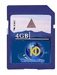 abordables -félicitations carte de navigation GPS (4 / 8G carte SD, pour le système de crispation)