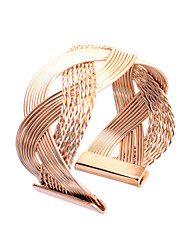 abordables -Femme Manchettes Bracelets - Style Simple Argent Doré Bracelet Pour Soirée Quotidien