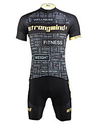 ILPALADINO Maillot et Cuissard de Cyclisme Homme Unisexe Manches Courtes Vélo Maillot Cuissard  / Short Ensemble de Vêtements Séchage