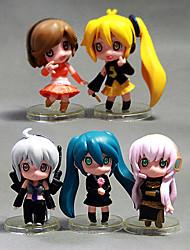 billiga -Anime Actionfigurer Inspirerad av Cosplay Hatsune Miku pvc 5 cm CM Modell Leksaker Dockleksak