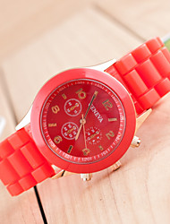 Women's Fashion Watch Quartz Silicone Band Casual