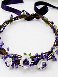 cheap -Wedding Headband, Flower Headband Floral Crown, Ivory , Floral Head Wreath, Bridesmaid Flower Crown, Flower Girls Flow