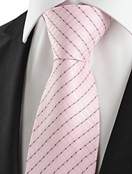 cheap -New Striped Pink Classic Men's Tie Necktie Wedding Party Holiday Prom Gift #1004