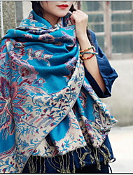 Cotton National Wind Shawls Scarf Female Autumn And Winter Long Section Of Large Embroidery Tassels Shawl