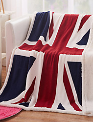 cheap -130*160cm 3d UK/US Flag blanket cashmere plaids