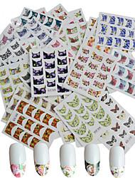 billige -10 pcs 3D Negle Stickers Negle Smykker Vandoverførings klistermærke Negle kunst Manicure Pedicure Punk / Mode Daglig / PVC / Negle smykker / 3D Nail Stickers