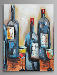 cheap -Hand-Painted Still Life Vertical Oil Painting Home Decoration One Panel