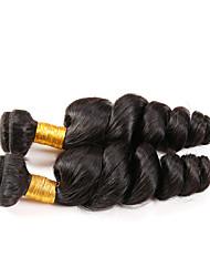 Натуральные волосы Перуанские волосы Человека ткет Волосы Свободные волны Наращивание волос 1 шт. Черный Естественный цвет