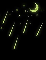 cheap -Luminous Meteor Shower Home Decoration Wall Sticker Fluorescent Moon Stars Glow In The Dark Windows Art Decor