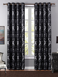 Grommet Top One Panel Curtain European , Jacquard Bedroom Polyester Material Blackout Curtains Drapes Home Decoration