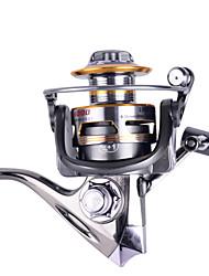 3000 Size 5.2:1 Full Metal Reel 12+1 Ball Bearings All Metal Sea Fishing Saltwater Fishing Spinning Fishing Reel