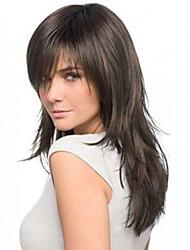 Недорогие -человеческие волосы Remy Лента спереди Парик Бразильские волосы Прямой Парик 150% Плотность волос 16 дюймовый Жен. Короткие Средние Длинные Парики из натуральных волос на кружевной основе Premierwigs