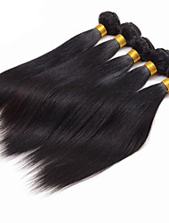 200g/4 Bundles Peruvian Straight Hair Human Hair Weaves Natural Color 8-26 inch Virgin Hair