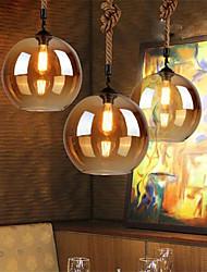 cheap -Loft American Rope Retro Lighting Bar Restaurant Lights Personality Living Room Clothing Store Glass Pendant Light 20cm