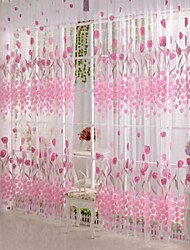 Недорогие -1 панель Деревня Цветочные / ботанический В соответствии с фото Гостиная Полиэстер Занавески Оттенки